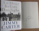 Jimmy Carter signed book An Hour Before Daylight 1st Print Beckett BAS Authentic auto