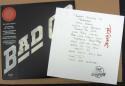 Paul Rodgers Bad Company signed LE Setlist + LP Album BAS Beckett auto /2000 auto