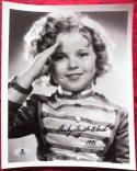 Shirley Temple signed 8x10 B&W photo BAS Beckett Authentication