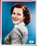 Maureen O'Hara Actress signed 8x10 photo BAS Beckett Authentic auto
