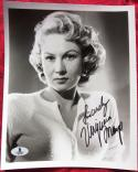 VIrginia Mayo Actress signed 8x10 photo BAS Beckett Authentic auto