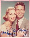 Robert Stack Lauren Bacall 2x signed 8x10 photo BAS Beckett Authentic auto