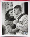 Douglas Fairbanks Jr Joan Fontaine 2x signed 8x10 photo Gunga Din BAS Beckett