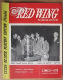 1963 Maple Leafs Red Wings Stanley Cup Finals Program Game 4 April 16, 1963