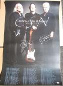 Crosby Stills & Nash 3x signed 24x 30 Summer Tour 2012 Concert Poster PSA/DNA