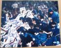 1986 Mets team signed 16x20 Photo 34 sigs Gary Carter WS Champs Beckett BAS Auth