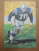 Art Donovan Colts signed Goal Line Art Postcard PSA/DNA auto