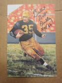 Bullet Bill Dudley Steelers signed Goal Line Art Postcard PSA/DNA w/ inscription