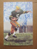 Paul Hornung Packers signed Goal Line Art Postcard PSA/DNA auto