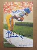 Charlie Joiner Chargers signed Goal Line Art Postcard PSA/DNA auto