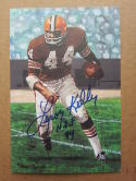 Leroy Kelly Browns signed Goal Line Art Postcard PSA/DNA auto HOF 94 Inscription