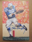 John Mackey Colts signed Goal Line Art Postcard PSA/DNA auto