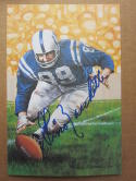 Gino Marchetti Colts signed Goal Line Art Postcard PSA/DNA auto