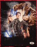 Fantastic Four Cast 4x signed 8x10 photo BAS Beckett Authentic Mara Jordan Bell