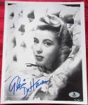 Gloria DeHaven signed 8x10 B&W photo BAS Beckett Authentication