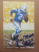 Lenny Moore Colts signed Goal Line Art Postcard PSA/DNA auto
