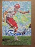 Jan Stenerud Chiefs signed Goal Line Art Postcard PSA/DNA auto