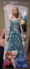 Idina Menzel signed Mattel Disney Frozen Elsa of Arendelle Doll PSA/DNA auto