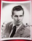 Charlton Heston signed 8x10 B&W photo BAS Beckett Authentication