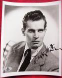 Charlton Heston signed 8x10 B&W photo BAS Beckett Authentication