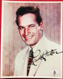 Charlton Heston signed 8x10 Color photo BAS Beckett Authentication