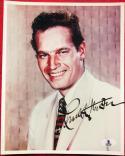 Charlton Heston signed 8x10 Color photo BAS Beckett Authentication