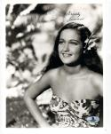 Dorothy Lamour Actress signed 8x10 photo BAS Beckett Authentic auto