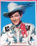 Roy Rogers King of the Cowboys Signed Color 8x10 Photo BAS Beckett Auth