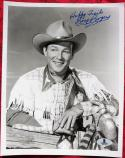 Roy Rogers King of the Cowboys Signed B&W 8x10 Photo BAS Beckett Auth