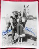 Roy Rogers and Dale Evans Signed B&W 8x10 Photo BAS Beckett Auth
