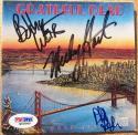 Grateful Dead 3x signed CD Cover Dead Set PSA/DNA Weir Hart Lesh
