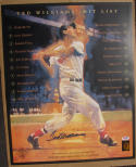 Ted Williams Red Sox signed 16x20 Lithograph Photo PSA/DNA + Green Diamond