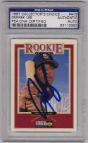 Derrek Lee signed 1997 UD CC baseball card PSA/DNA Slab