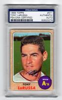 Tony LaRussa signed 1968 Topps baseball card #571 PSA/DNA Slab autographed