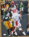 Hakeem Nicks Giants signed 11x14 photo Hailmary vs Packers with inscription JSA