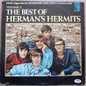 Peter Noone Keith Hopwood Herman's Hermits signed The Best of Vol 2 LP Album Cover PSA/DNA