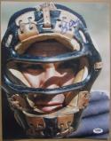 Yogi Berra Yankees signed 11x14 photo PSA/DNA with Catcher's Mask