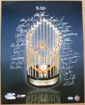 1986 Mets team signed 16x20 Photo 29 sigs Gary Carter WS Champs Beckett BAS Auth