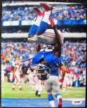 David Wilson Giants signed 8x10 photo Backflip PSA/DNA In the Presence ITP