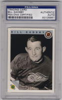 Bill Gadsby signed 1992 Ultimate Hockey Card PSA/DNA
