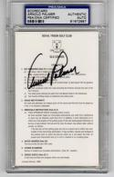 Arnold Palmer Golf signed Royal Troon Scorecard 1962 British Open PSA/DNA slab