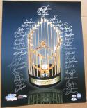 1986 Mets team signed 16x20 Photo 36 sigs Gary Carter WS Champs Beckett BAS Auth