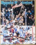 1980 USA Hockey Miracle On Ice Team 23x signed 11x14 Photo of 3/3/80 SI Cover