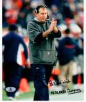 Bill Belichick Patriots Coach with inscriptions signed 8x10 photo Beckett BAS