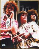 Ginger Baker Cream signed 11x14 color photo Beckett BAS Authentic autograph