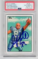 Golden Tate signed 2010 Topps 1952 Bowman Rookie Card RC PSA/DNA Grade 10