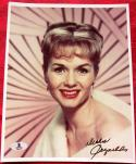 Debbie Reynolds Carrie Fisher Mom signed 8x10 photo BAS Beckett Authentic